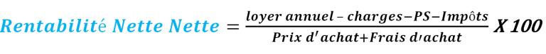 Calculer la rentabilité nette nette, la formule