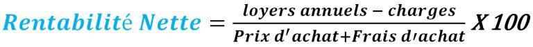 Calculer la rentabilité nette, la formule